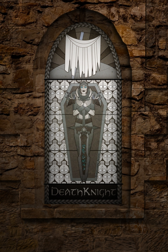 (c) Disciplinary Action - Stained Class: The Death Knight, stained glass