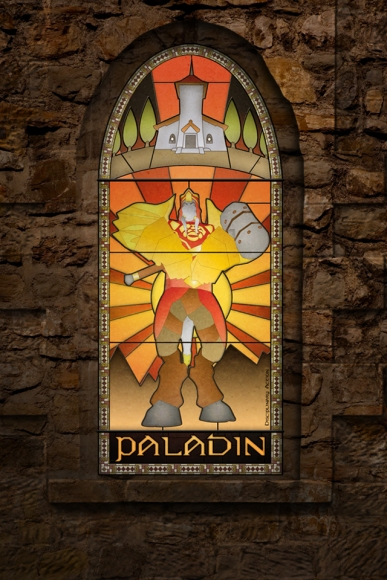 (c) Disciplinary Action - Stained Class: The Paladin, stained glass