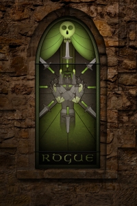 (c) Disciplinary Action - Stained Class: The Rogue, stained glass