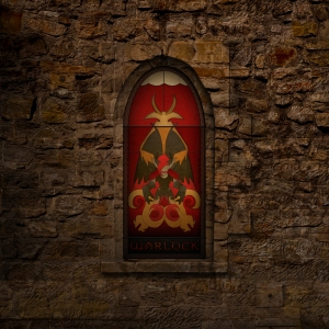 (c) Disciplinary Action - Stained Class: The Warlock, stained glass