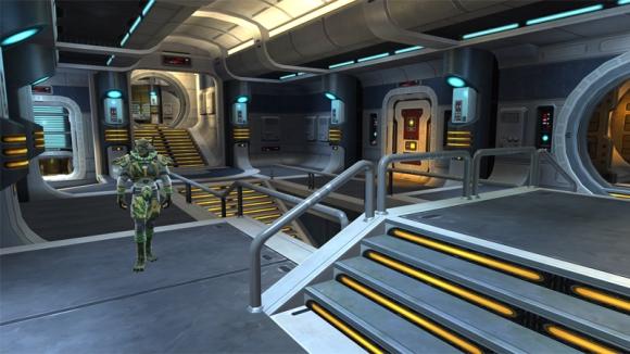 Interior screenshot of starship Defender (c) Bioware