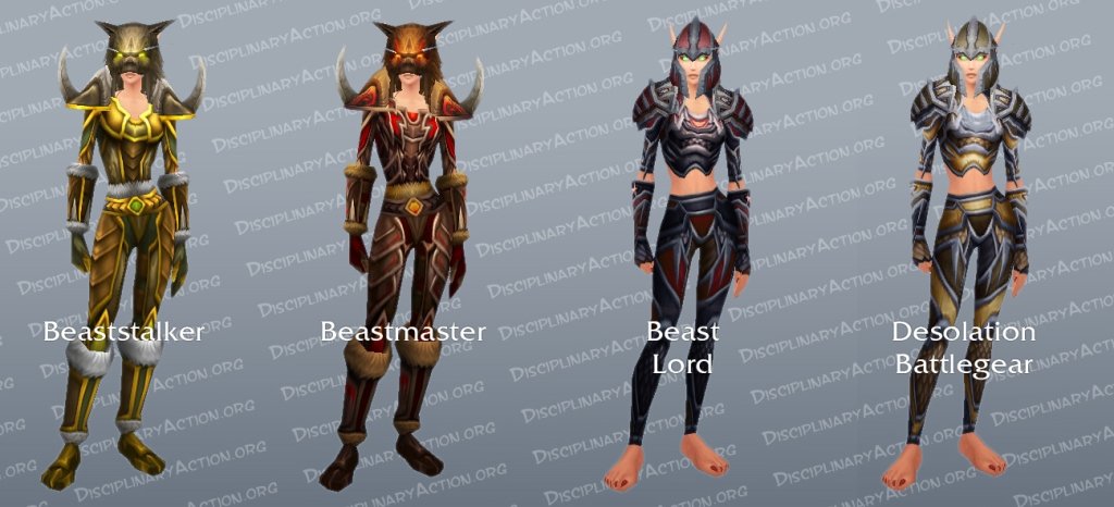 Hunter Dungeon Set Transmogrification Gear