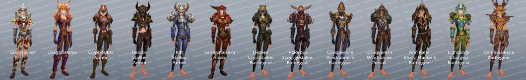 Hunter Tier Set Transmogrification Gear