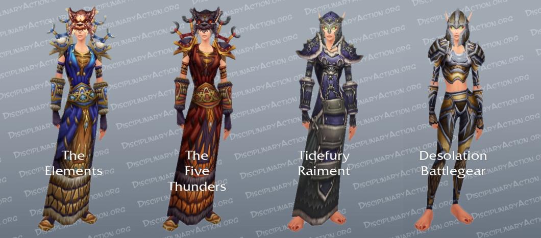 Hunter Dungeon Set Transmogrification Gear