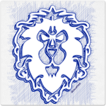 Warcraft Ballpoint Icon: Alliance