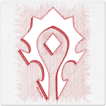 Warcraft Ballpoint Icon: Horde