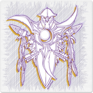 Warcraft Ballpoint Icon: Night Elf