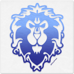 Warcraft Wooden Icon: Alliance