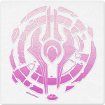 Warcraft Wooden Icon: Draenei