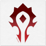 Warcraft Wooden Icon: Horde
