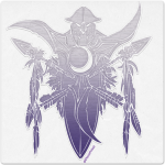 Warcraft Wooden Icon: Night Elf