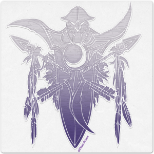 Wooden Icon: Night Elf
