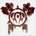 Warcraft Wooden Icon: Orc