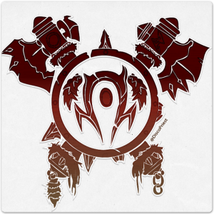 Wooden Icon: Orc