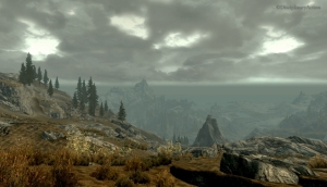 Skyrim: Cliffs at Day - Still from the Moving Wallpaper (c) Disciplinary Action