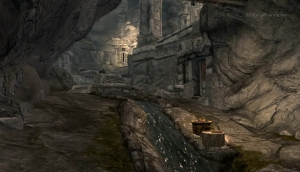 Skyrim: Markarth River - Still from the Moving Wallpaper (c) Disciplinary Action