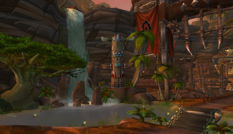 Warcraft: Orgrimmar Waterfall - Still from the Moving Wallpaper (c) Disciplinary Action