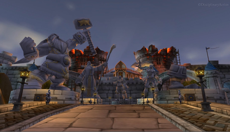 Warcraft: Stormwind Entry - Still from the Moving Wallpaper (c) Disciplinary Action