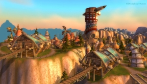 Warcraft: Thunder Bluff Windmills - Still from the Moving Wallpaper (c) Disciplinary Action