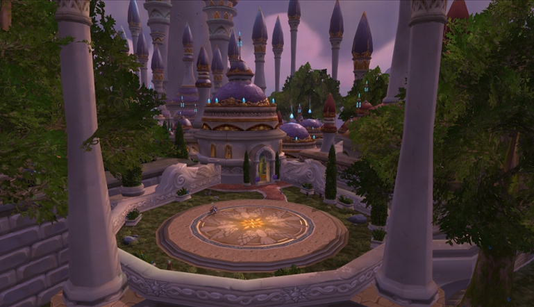 Moving Wallpaper: Dalaran Landing Pad (c) Disciplinary Action
