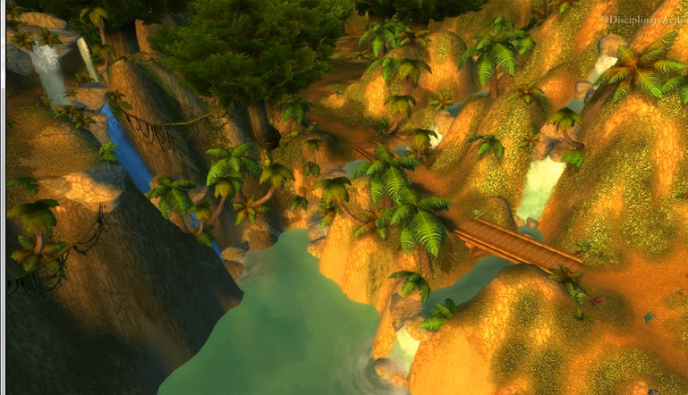 Moving Wallpaper: Stranglethorn Coast Waterfall (c) Disciplinary Action