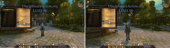 Disciplinary Action | Warcraft Guide Boost to 90 from 60: Quest Log pane