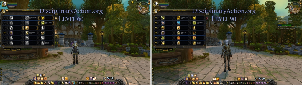 Disciplinary Action | Warcraft Guide Boost to 90 from 60: Changes to Talent Pane