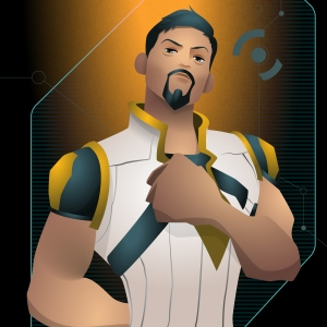 Wildstar - Human Male Scientist Avatar - ©DiscoPriest